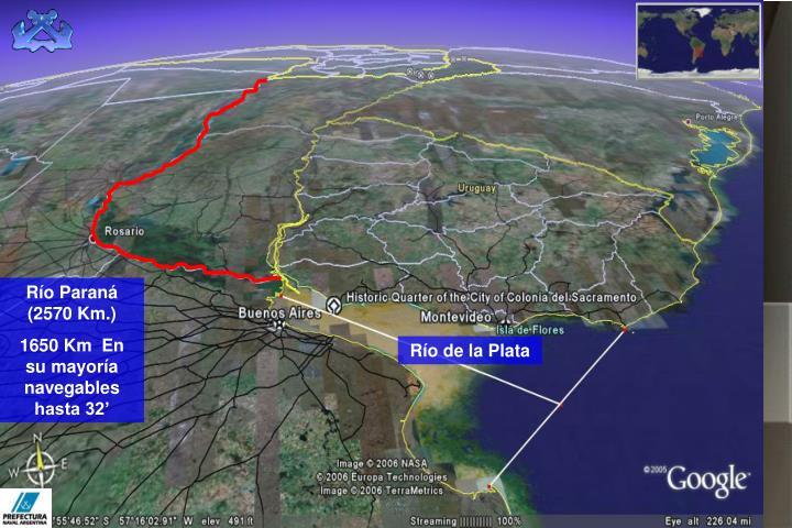Río Paraná (2570 Km.)