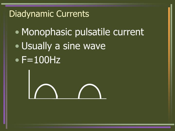 Diadynamic currents