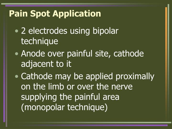 Pain Spot Application