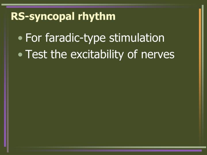 RS-syncopal rhythm