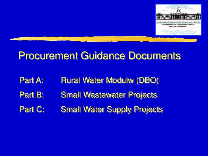 Procurement Guidance Documents