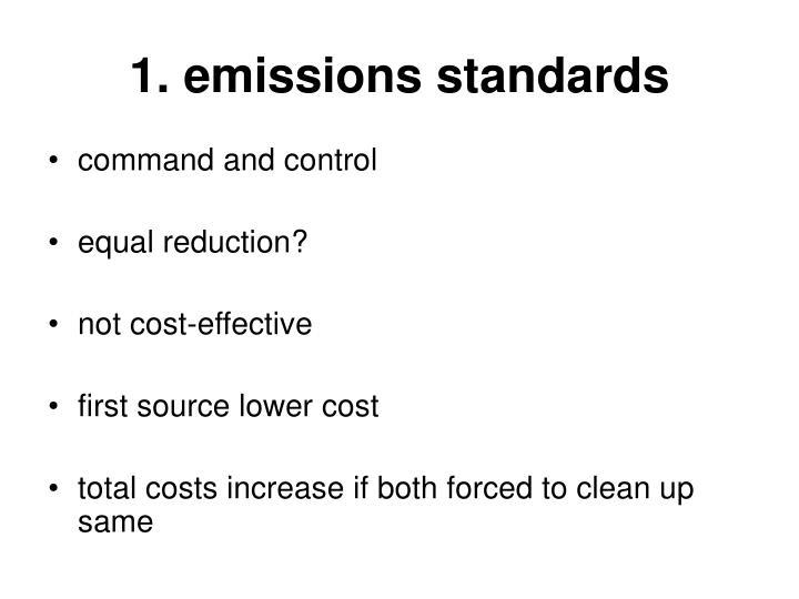1. emissions standards