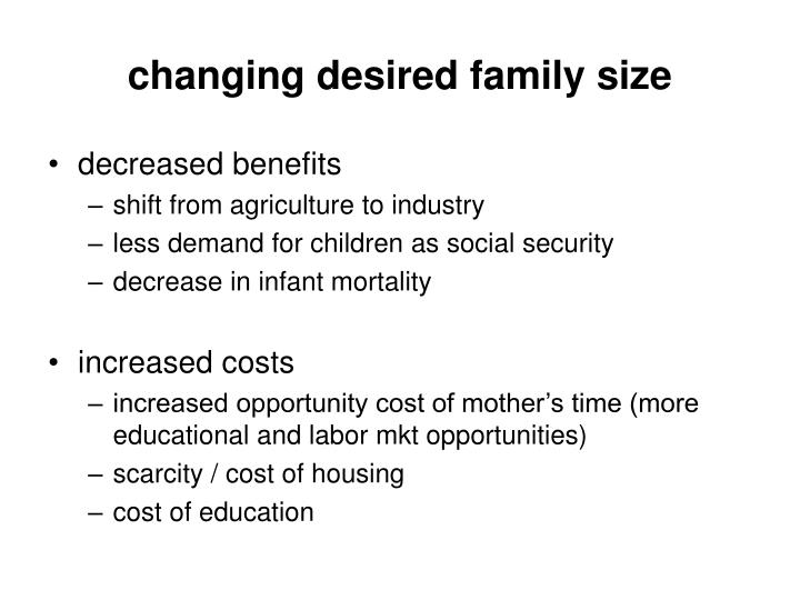 changing desired family size