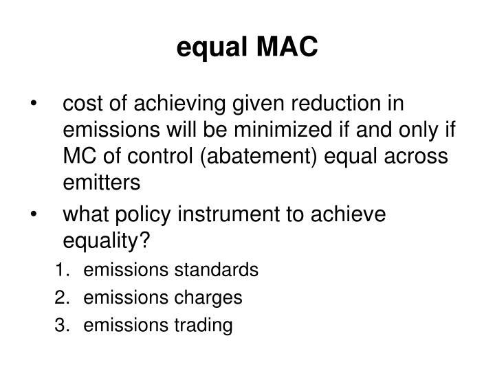 equal MAC