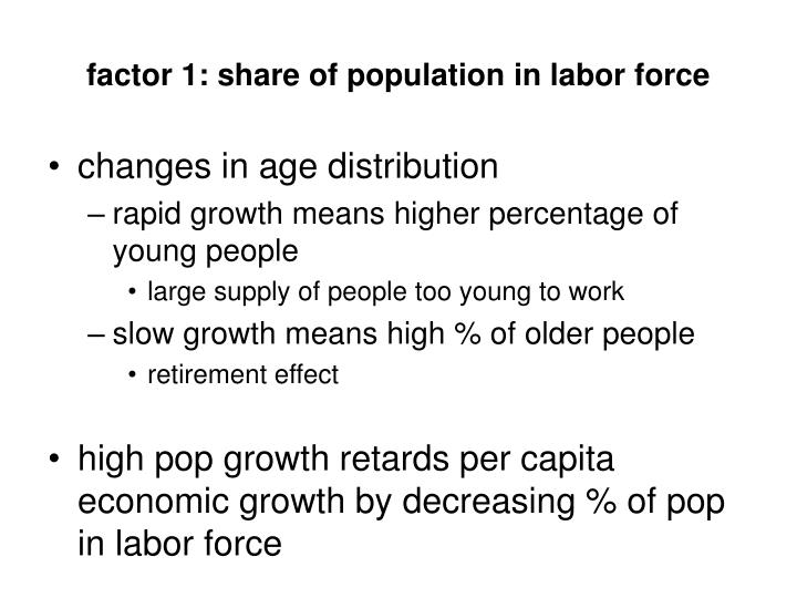 factor 1: share of population in labor force