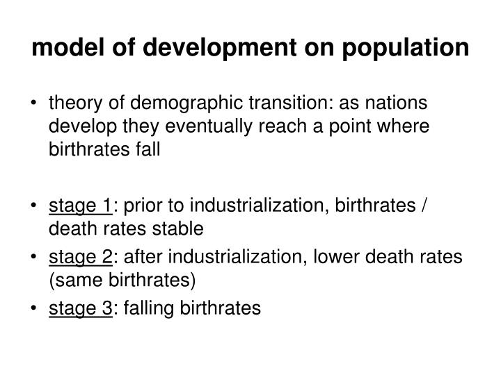 model of development on population