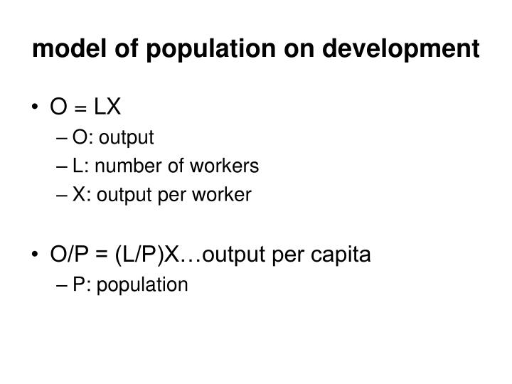 model of population on development