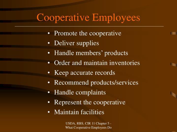 Cooperative Employees