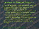 analysis of relevant costs 1 of 3