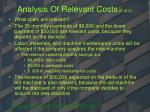 analysis of relevant costs 2 of 3