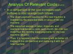 analysis of relevant costs 3 of 3
