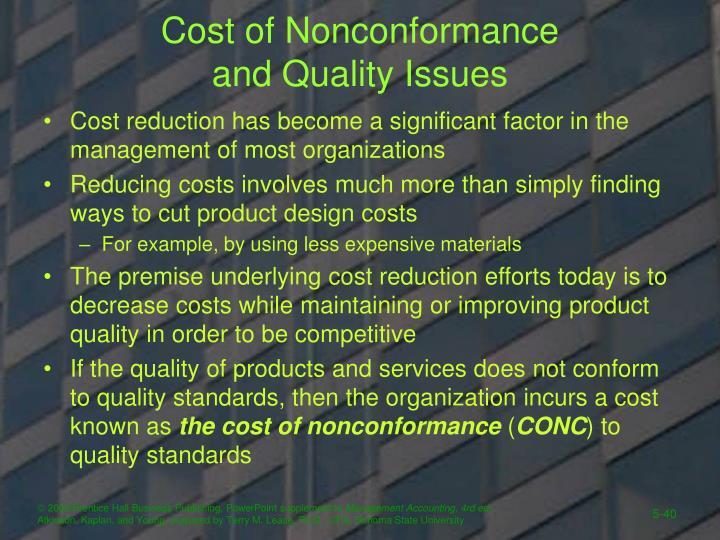 Cost of Nonconformance