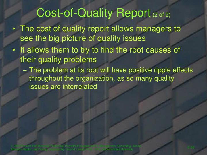 Cost-of-Quality Report