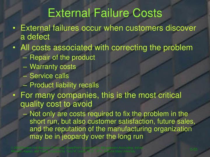 External Failure Costs