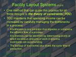 facility layout systems 2 of 2