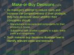make or buy decisions 1 of 3