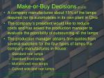 make or buy decisions 2 of 3