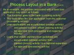 process layout in a bank 1 of 2