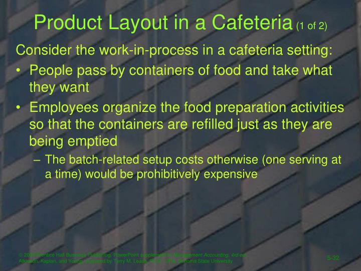 Product Layout in a Cafeteria