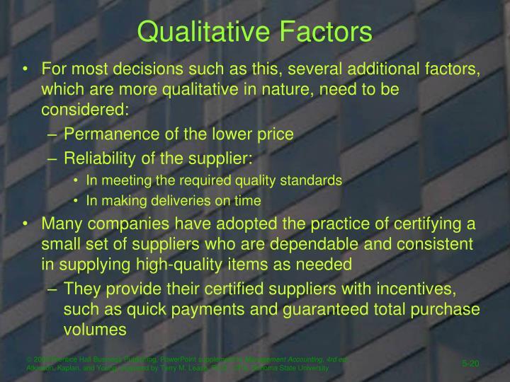 QualitativeFactors