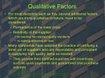 qualitative factors