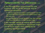 responsibility for decisions 1 of 2