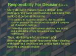 responsibility for decisions 2 of 2