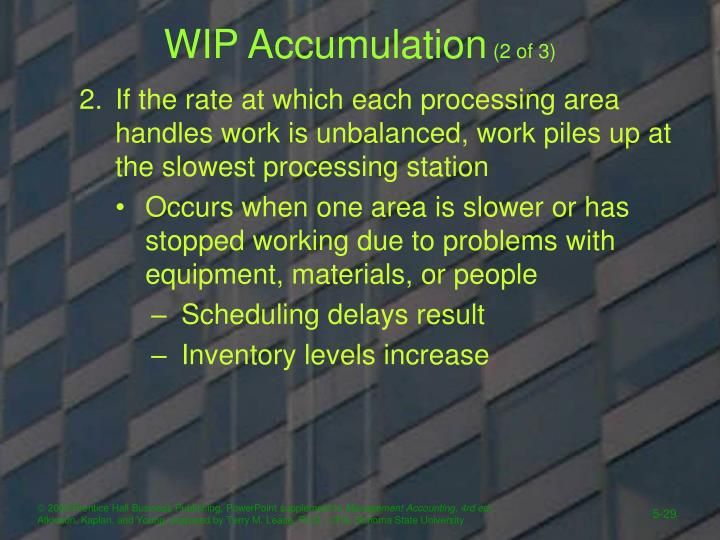 WIP Accumulation