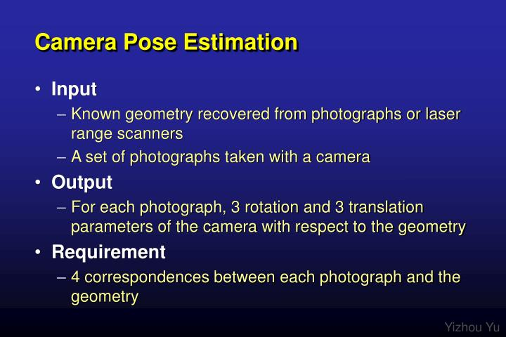 Camera pose estimation
