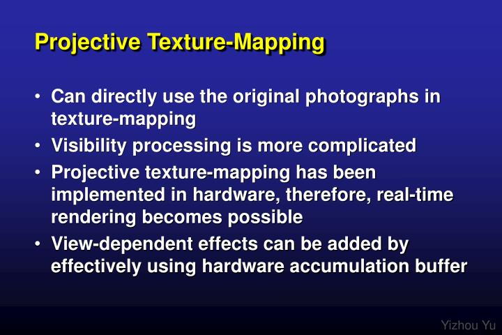 Projective Texture-Mapping