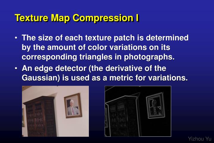 Texture Map Compression I