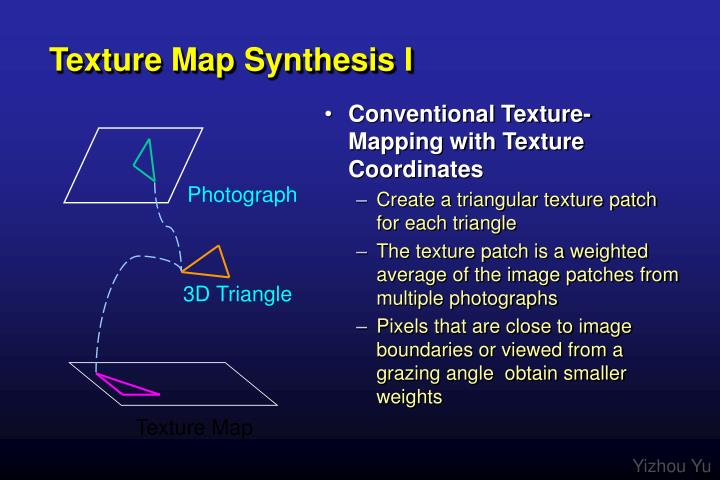 Texture Map Synthesis I