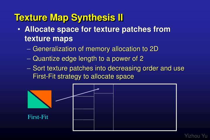 Texture Map Synthesis II