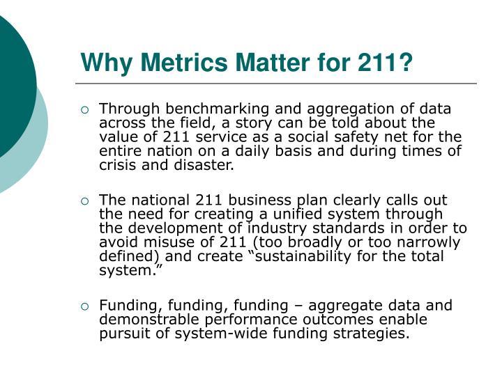 Why Metrics Matter for 211?