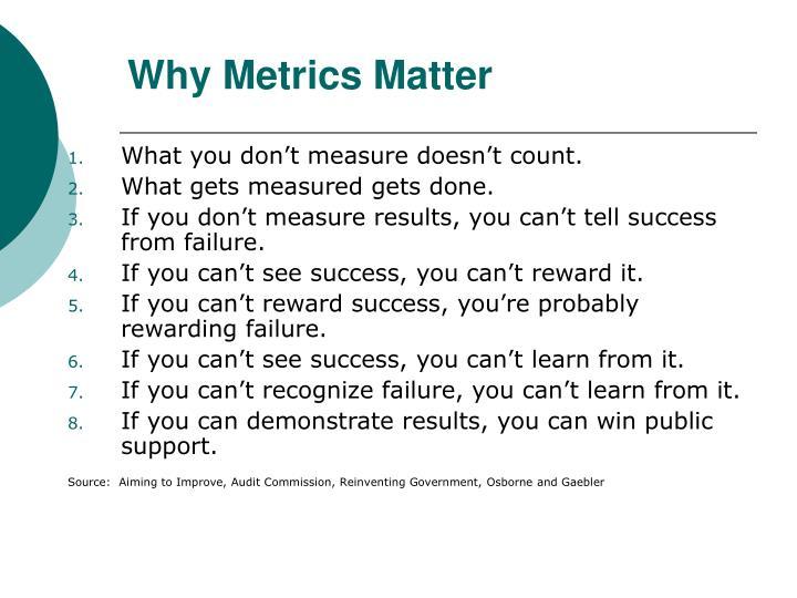 Why Metrics Matter