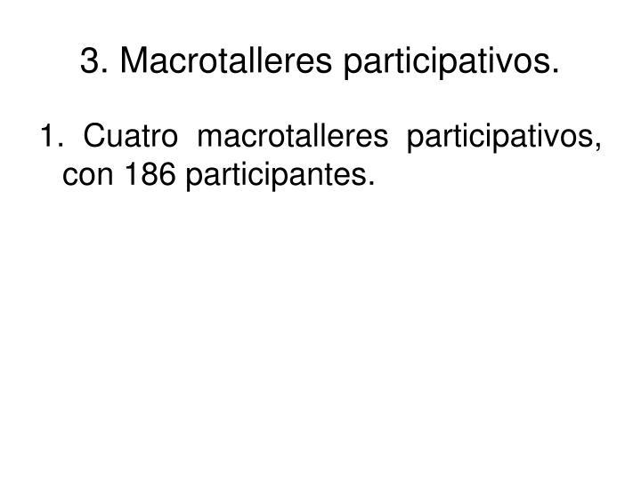 3. Macrotalleres participativos.
