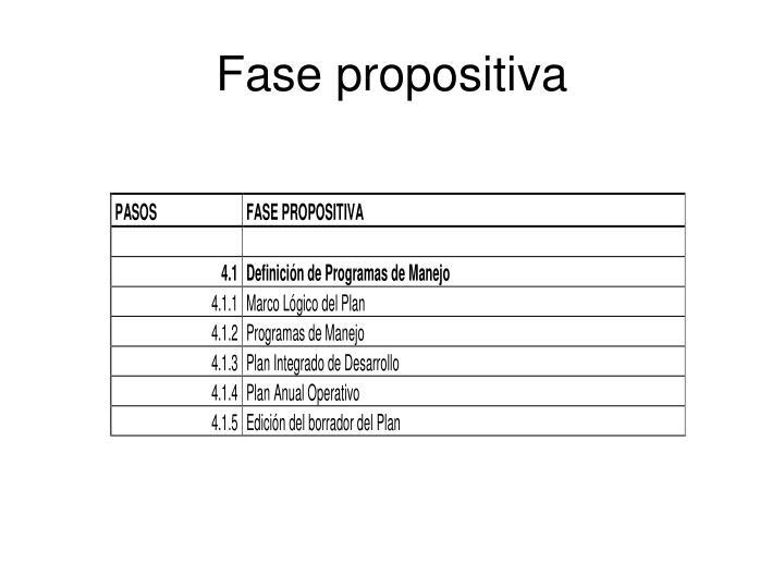 Fase propositiva