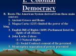 i colonial democracy1
