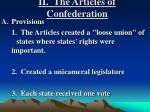 ii the articles of confederation1