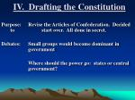 iv drafting the constitution