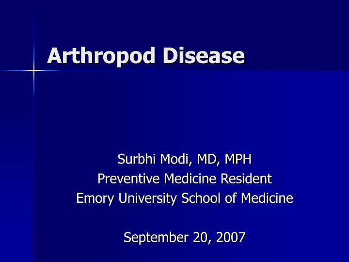 Arthropod Disease