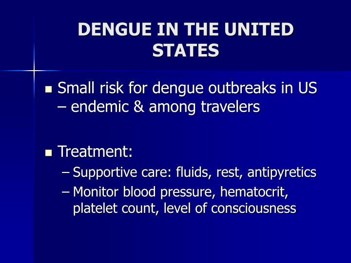 DENGUE IN THE UNITED STATES