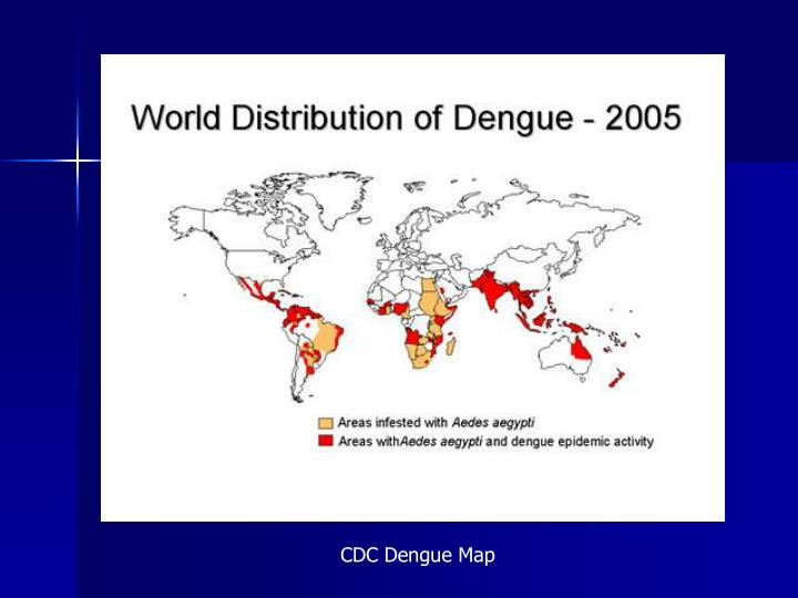CDC Dengue Map
