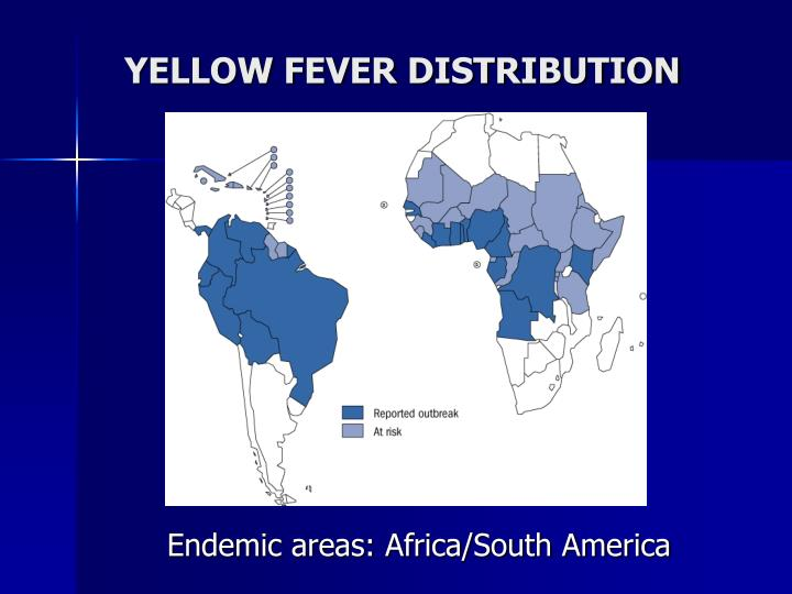 YELLOW FEVER DISTRIBUTION