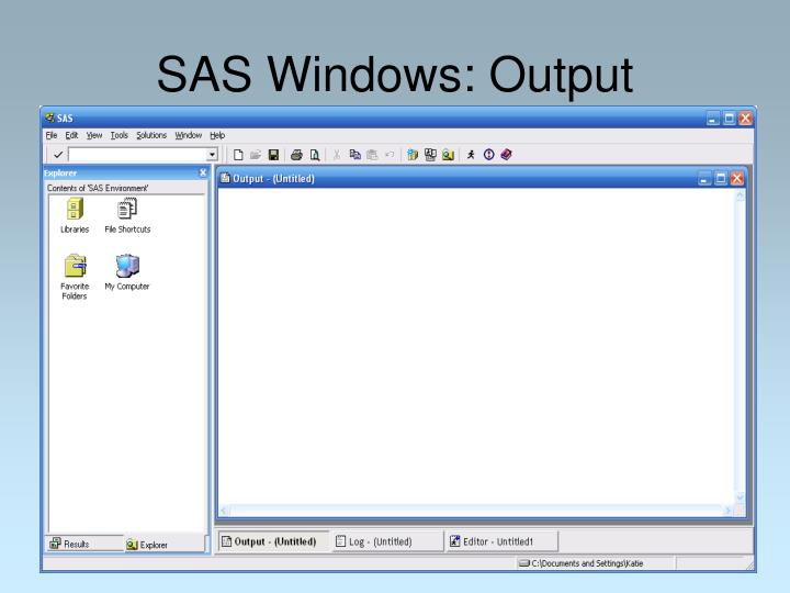SAS Windows: Output