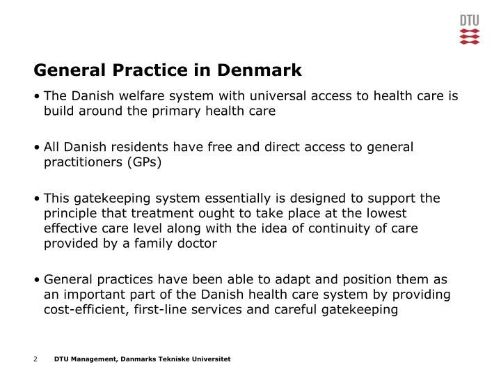 General Practice in Denmark