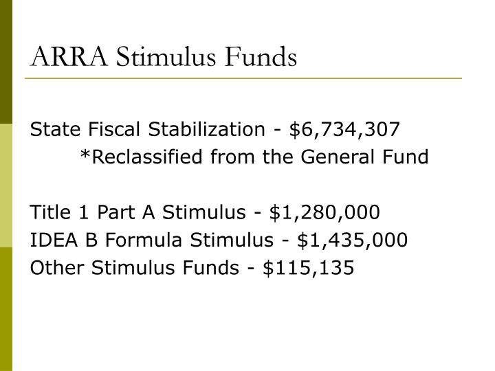 ARRA Stimulus Funds