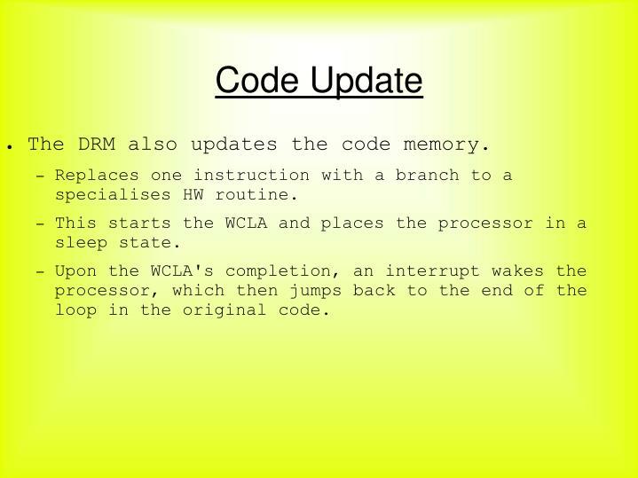 Code Update
