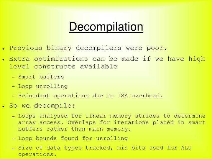 Decompilation