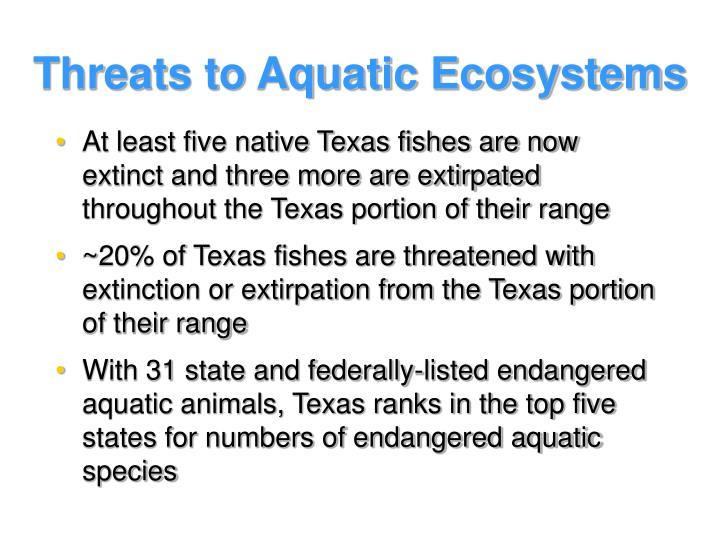 Threats to Aquatic Ecosystems